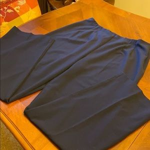 Navy no waist slacks 16 Tall